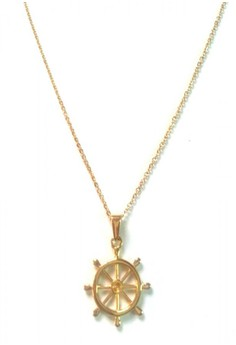 Stainless Gold Nautical Theme Pendant