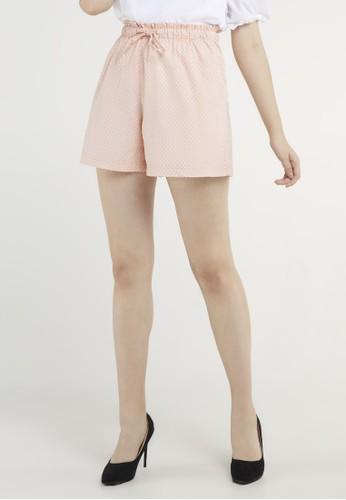 Point One pink Lenka Bubble Pink Relaxed Shorts 6A0DEAA244E13BGS_1