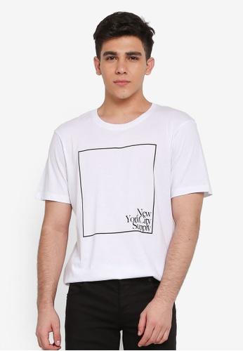 Cotton On 白色 短袖印花T恤 2F976AA066F9F9GS_1