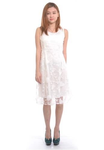 75e61c0c4eb Sweetheart white Sleeveless Lace Overlay Dress DBCE4AA39EFD5EGS 1