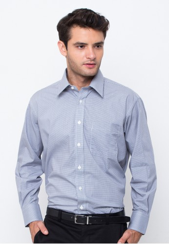 Gianni Paolo blue Men's Long Sleeve Shirt FABGP 172 GI589AA82QEVID_1