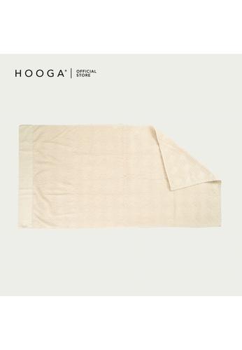 HOOGA white and beige Hooga Bath Towel Truman (Bundle of 2) 4644FHL06829BBGS_1