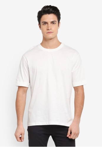 MANGO Man white Rolled-Up Sleeves T-Shirt 7260FAAAF7A992GS_1