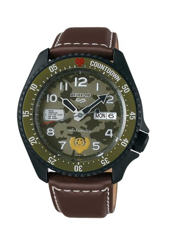 Seiko brown Seiko Jam Tangan Pria - Brown Black Green - Leather Strap - SRPF21K1 - Limited Edition BF2E2AC8D6300DGS_1