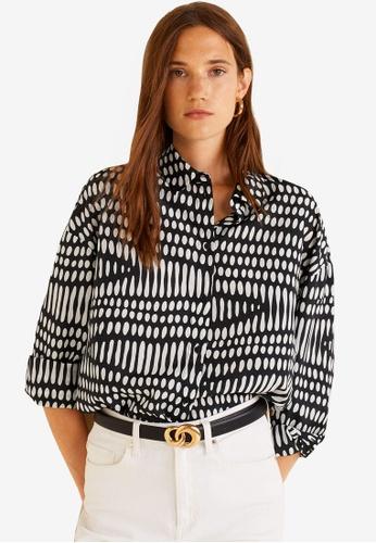 Mango white Geometric Print Shirt 1EC75AAD86F8DCGS_1