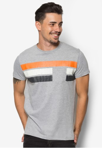 Peter 條紋拼接圓領TEE, 服飾, 條紋esprit hk storeT恤