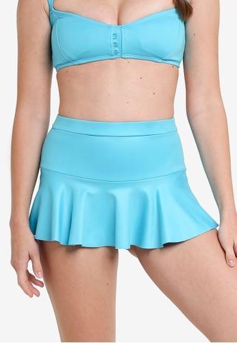 QUA VINO 藍色 High-waisted Skirt Blue 1DD18US64F0E65GS_1