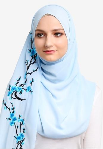 Najjah blue Embroidered Shawl NA225AA59NJWMY_1