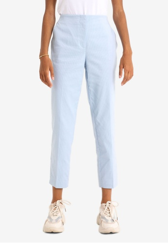 PIMKIE blue Structured Long Pants 05F1BAA5ED8490GS_1