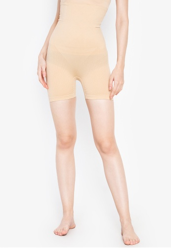 Golden Ticket Super Savers beige Slimming High Waisted Shorts and Bodyshaper 5571EUS0CEB422GS_1