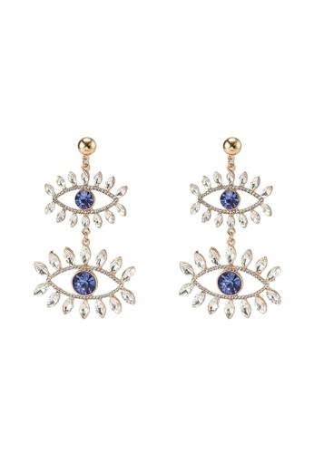 ALDO blue Keralian Pierced Earrings 7C3B8ACD3A4850GS_1