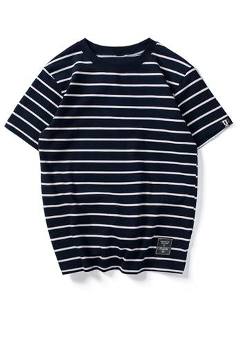 HAPPY FRIDAYS 寬鬆撞色條紋短袖T恤 UP738 A6F58AA6B00CE1GS_1