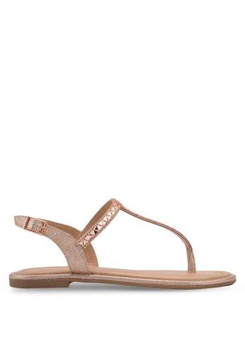 ALDO silver Sheeny Flat Sandals B54C2SHA4E3739GS_1