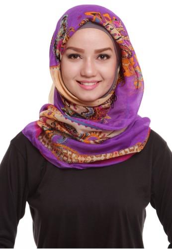 Mybamus Yellow Blue Olurysa Batik Motif Square Purple - Soft Brown