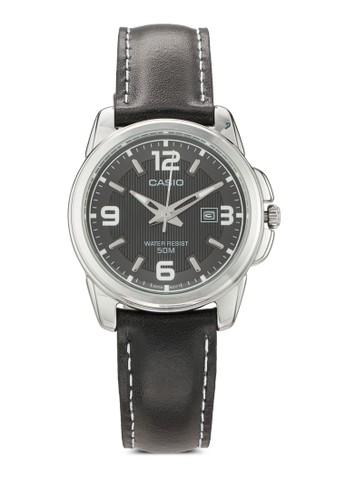 LTP-1314L-8Aesprit 西裝VDF 真皮圓錶, 錶類, 飾品配件