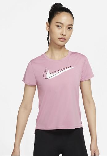 Nike red As W Nk Df Swsh Run Top Ss 62166AA25626AEGS_1