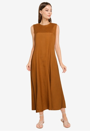 niko and ... brown Woven Maxi Dress 05230AA90AFE05GS_1
