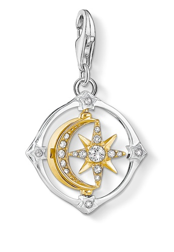 THOMAS SABO silver Charm Pendant Moveable Moon & Star 13329AC1FEC03FGS_1
