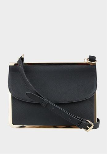 London Rag black Sling bag with flap closure 98EC5AC6DDFFF2GS_1