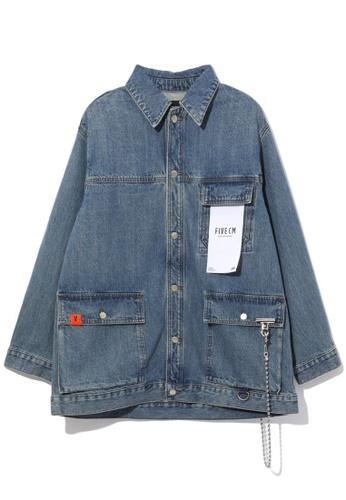 Fivecm navy Denim jacket 663C3AAE3CB652GS_1