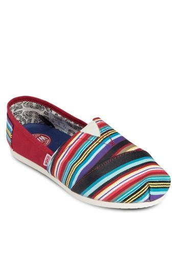 Serape 彩色條紋懶人鞋, 女esprit台灣門市鞋, 鞋