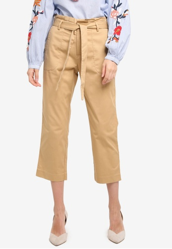 ESPRIT brown Woven Cropped Pants 9D8EDAAE254961GS_1