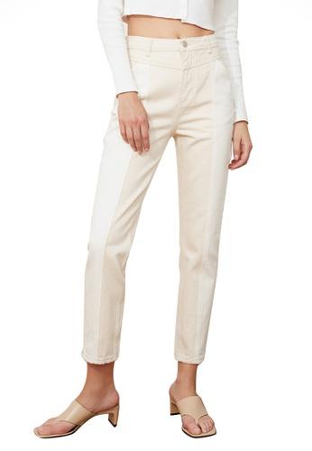 Trendyol white Colour Block High Waist Mom Jeans 4EBD7AA7F23139GS_1