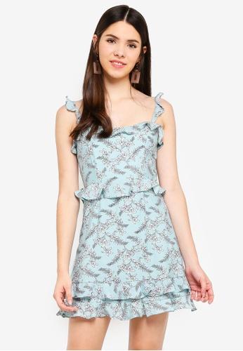 INDIKAH green Double Ruffle Hem Dress 0F6FCAA6D40B91GS_1