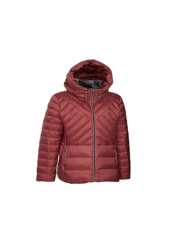 Universal Traveller red Universal Traveller Classic Short Down Jacket With Foldable Hood - DJW 9010 3F4CDAAF0E0D58GS_1
