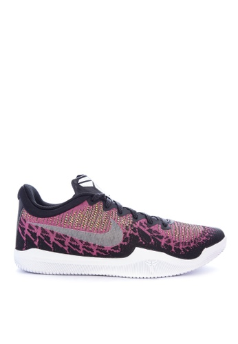 Nike black and white and pink and green Men's Nike Mamba Rage Basketball Shoes 0627ESHACB433DGS_1