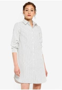 abb90582d ZALORA BASICS white Basic Mini Shirt Dress 9CDC6AA6C7973FGS_1