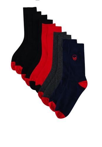 Brave Soul black Men's Embroided Socks 5E25CAACB11756GS_1