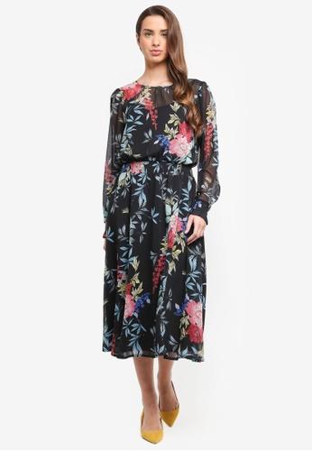 ESPRIT black Light Woven Midi Dress 4C6C6AA04A2E10GS_1