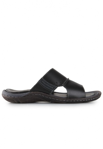Gino Mariani black Gino Mariani Men's Leather Sandals ENRIQUE  - BLACK E7118SH309E7FEGS_1