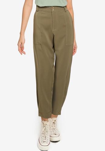JACQUELINE DE YONG green Pen Woven Pants 548A3AAE34891DGS_1