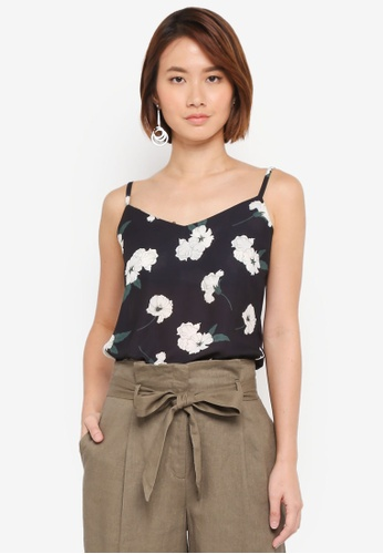 WAREHOUSE black Orchid Print Cami Top 98216AAD66703DGS_1