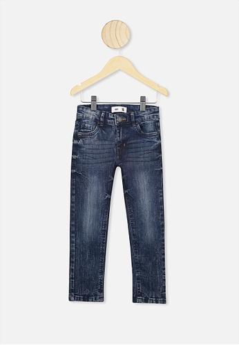 Cotton On Kids blue Ollie Slim Leg Jean 6C166KAECEB08AGS_1