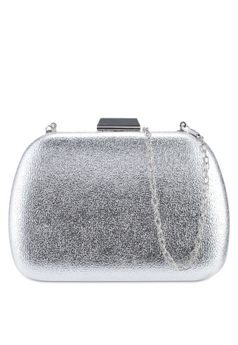 Red's Revenge silver Classic Shining Pleather Clutch 855F8AC04CDF45GS_1
