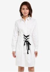 ZALORA white Laced Front Shirt Dress 86F14ZZDA3CBAAGS_1