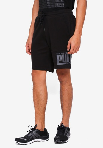 "Puma black Athletics Shorts 9"" TR 43832AAFB66AFAGS_1"