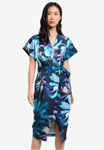 CLOSET blue Kimono Wrap Dress CL919AA0S6H1MY_1