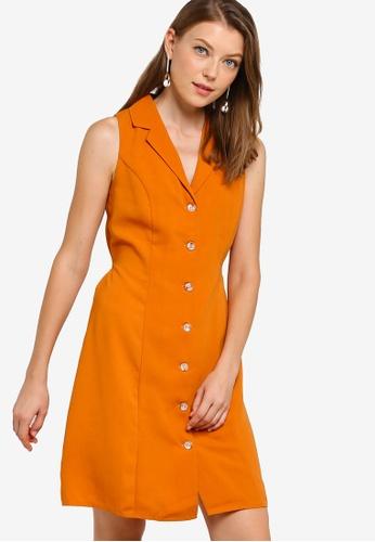 best place arriving buy best Shop ZALORA BASICS Basic Sleeveless Button Down Shirt Dress Online ...