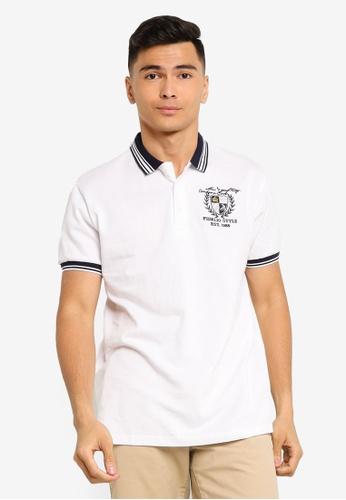 Fidelio 白色 刺繡Lining Collar Polo 襯衫 74AB7AA59AED9EGS_1