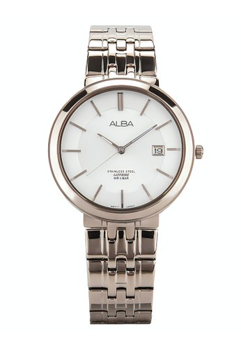 Alba gold ALBA Jam Tangan Pria - Rosegold White - Stainless Steel - AS9D70X1 E0D4CACB4FB8A9GS_1