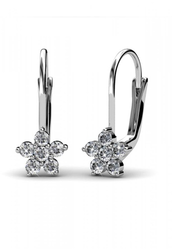 Her Jewellery silver Her Jewellery Flower Clip Earrings with 18K Gold Plated 9E937AC4595884GS_1