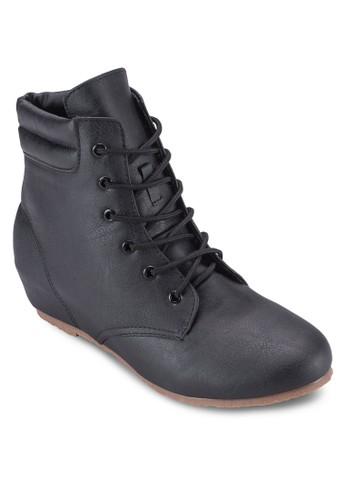 繫帶內增高踝靴esprit鞋子, 女鞋, 鞋