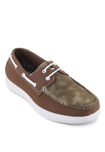 撞色壓花拼接船型鞋, 鞋esprit門市, 鞋