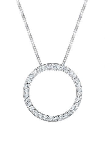 施華洛世奇水晶圈 925esprit 包 純銀項鍊, 飾品配件, 項鍊
