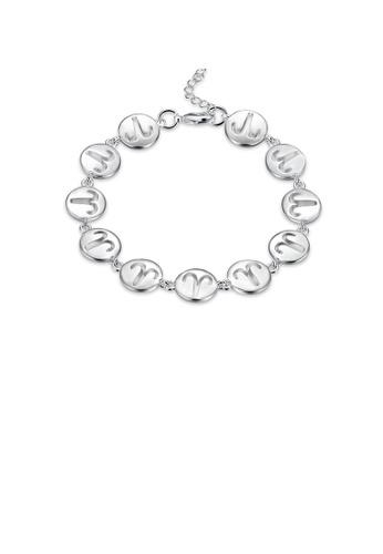 Glamorousky silver Fashion Simple Aries Round Bracelet 0BB5CAC0A29B87GS_1