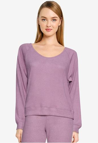 GAP purple Snit Rib Pullover Sweater C965FAA8413E49GS_1